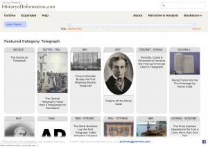 Historyofinformation.com website screenshot